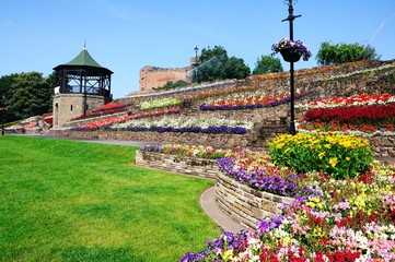 Pretty castle gardens, Tamworth © Arena Photo UK