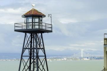 Alcatraz guard tower, San Francisco, California