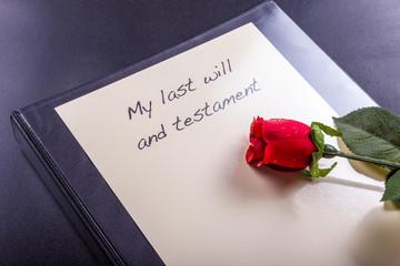 Mein letzter Wille und Testament