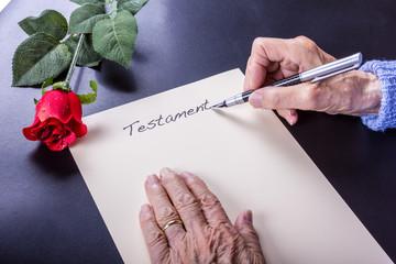 Testament schreiben