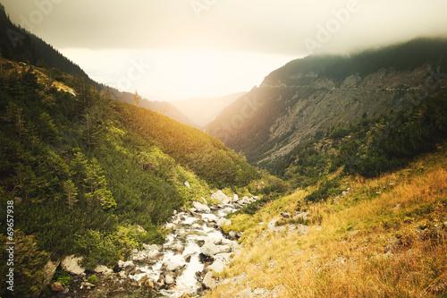 Foto op Aluminium Scandinavië Mountain creek