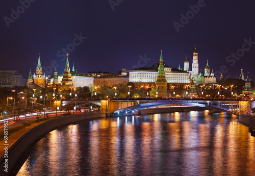 canvas print picture Kremlin in Moscow Russia