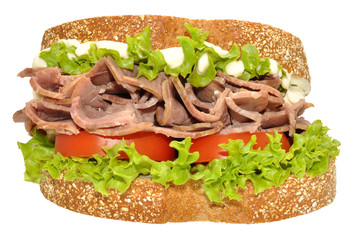 Beef And Salad Sandwich
