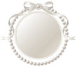銀のリボンと真珠のフレーム - 69658995