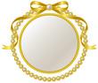 金のリボンと真珠のフレーム - 69658997