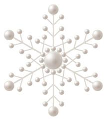 雪の結晶モチーフの真珠
