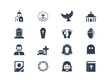 Funeral icons - 69659191