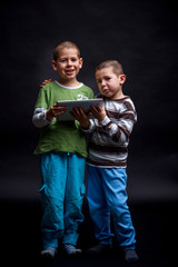 Kids using touch pad