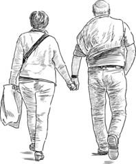 spouses on a walk