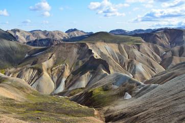 Исландия, риолитовые горы, Ландманналёйгар
