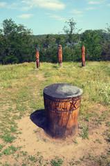 Ancient idols of wood