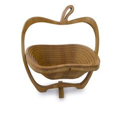wooden breadbasket