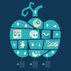 Halloween flat infographic
