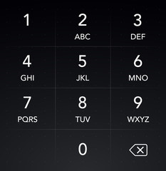 Phone Keyboard HUD Interface