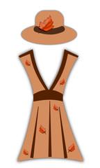 Vestito autunnale per donna