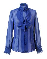blue shirt isolated on white