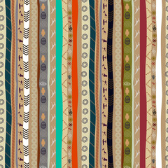 Seamless ethnic pattern with animals