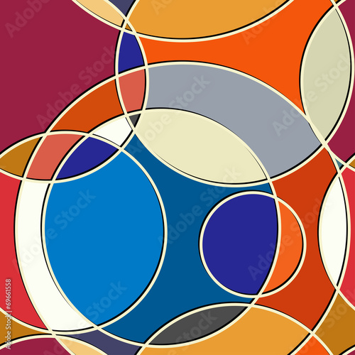 Foto op Canvas Kunstmatig Abstract geometric seamless texture