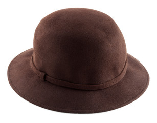 darl brown felt hat