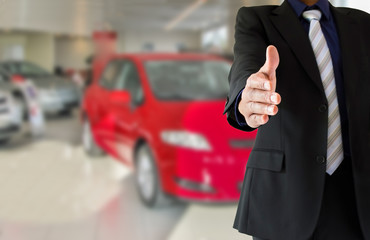 handshake from a dealership