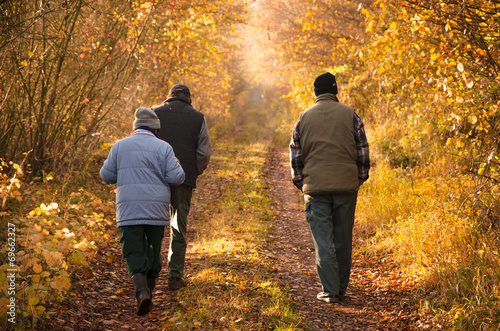canvas print picture Herbstwanderung