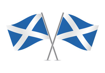 Scottish flag. Vector illustration.