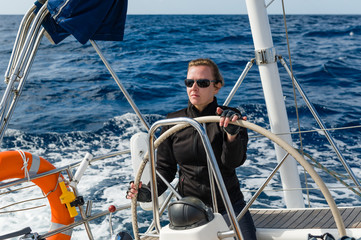 Woman at the helm