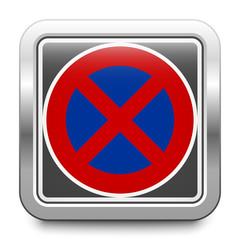 Absolutes Haltverbot – Halteverbot – glossy metallic button
