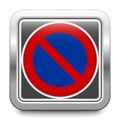 Eingeschränktes Haltverbot – Parkverbot – glossy metallic button