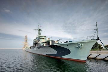 Niszczyciel Grom, okręt z II wojny światowej, Gdynia , Polska