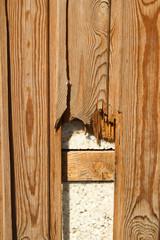 wall paneling broken