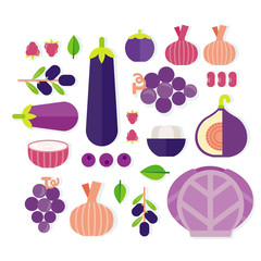 vector of fruits and vegetables