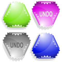 Undo. Vector sticker.