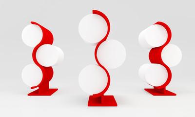 red blank lightbox