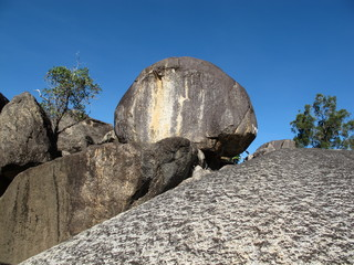 imposante granitfelsen in australien