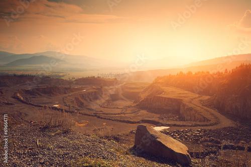 Leinwanddruck Bild Stone mine