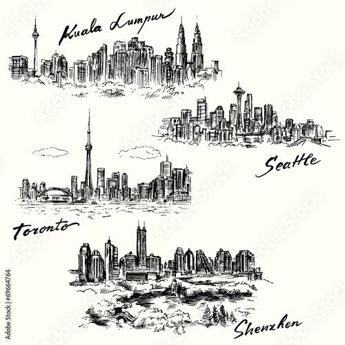 Toronto, Seattle, Kuala Lumpur, Shenzhen - 69664764