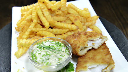 Fish with a portion of French Fries (not seamless loopable)