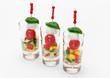 Tomate-Mozzarella-Spieße im Miniglas