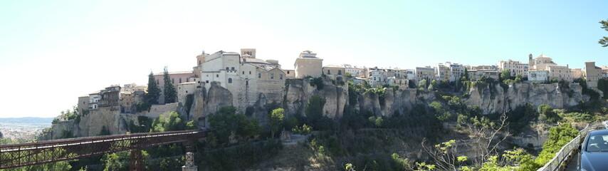 Vista general de ciudad de Cuenca en Castilla la Mancha España