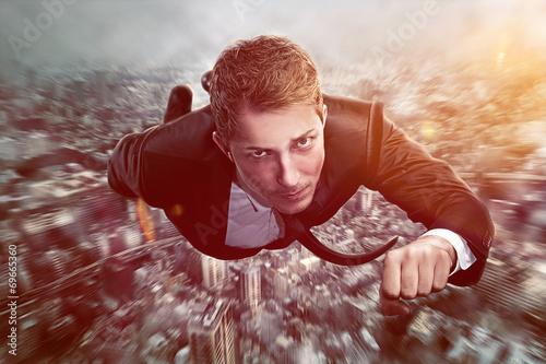Superhero Businessman - 69665360