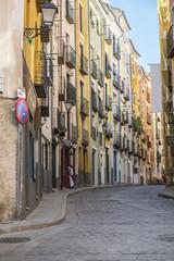 Calle en la ciudad de Cuenca en Castilla la Mancha España