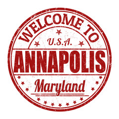 Welcome to Annapolis stamp
