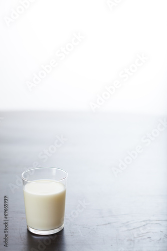 canvas print picture glas milch
