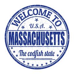 Welcome to Massachusetts stamp