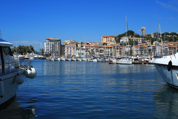 France Riviera, the marine Bay with yachts and boats
