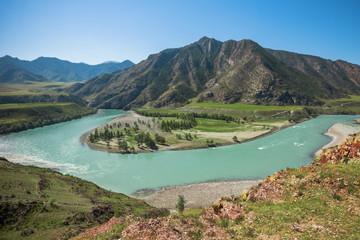 Twist Katun river in the Altai Mountains