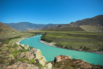 Katun River summer