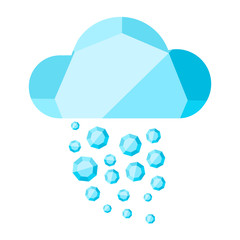Vector cloud with diamond rain