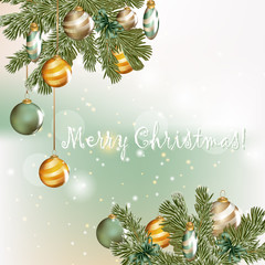 Christmas greeting card in elegant style
